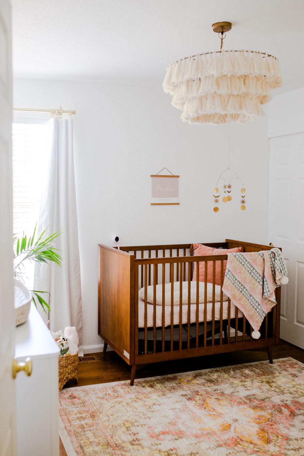 boho mid mod nursery