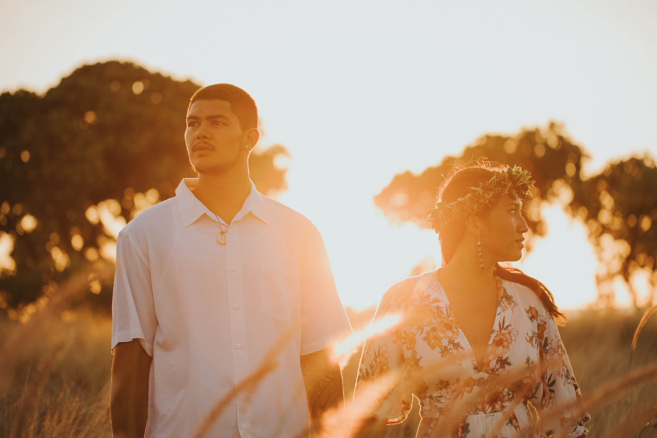 Hawaii Sunset Couple