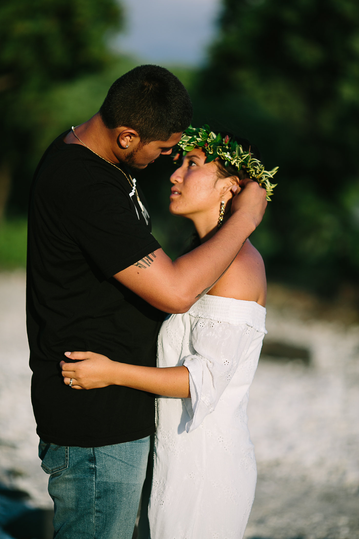Hawaii Beach Engagement Portraits
