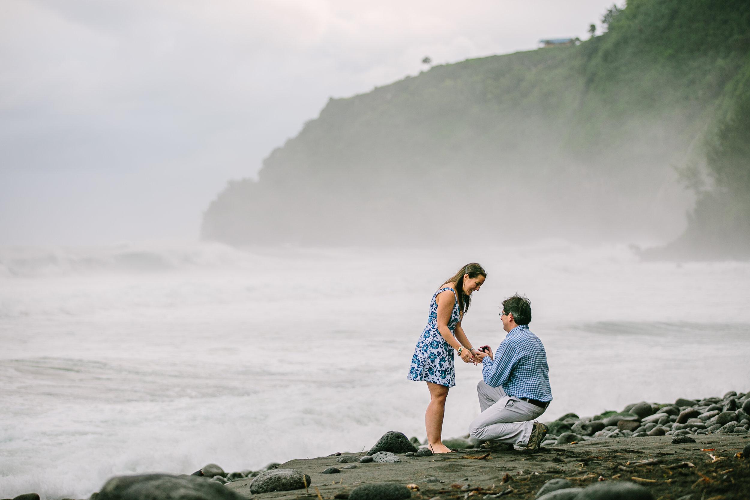 Waipio Valley Surprise Engagement