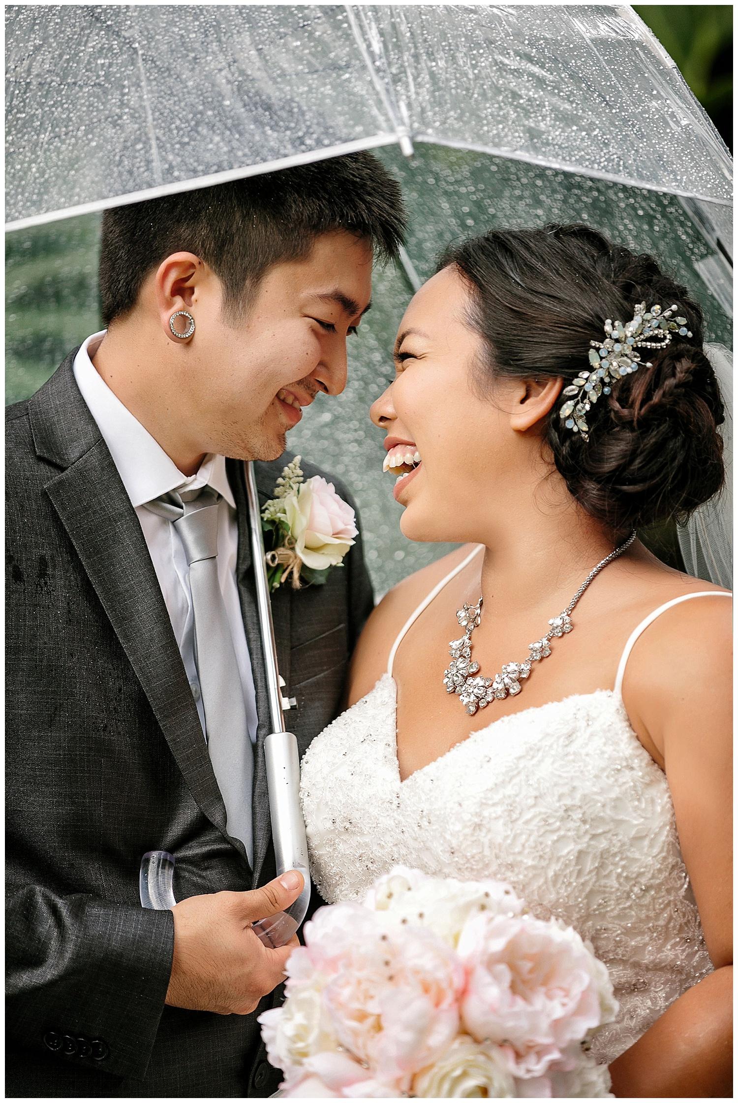 Rainy Wedding Portraits