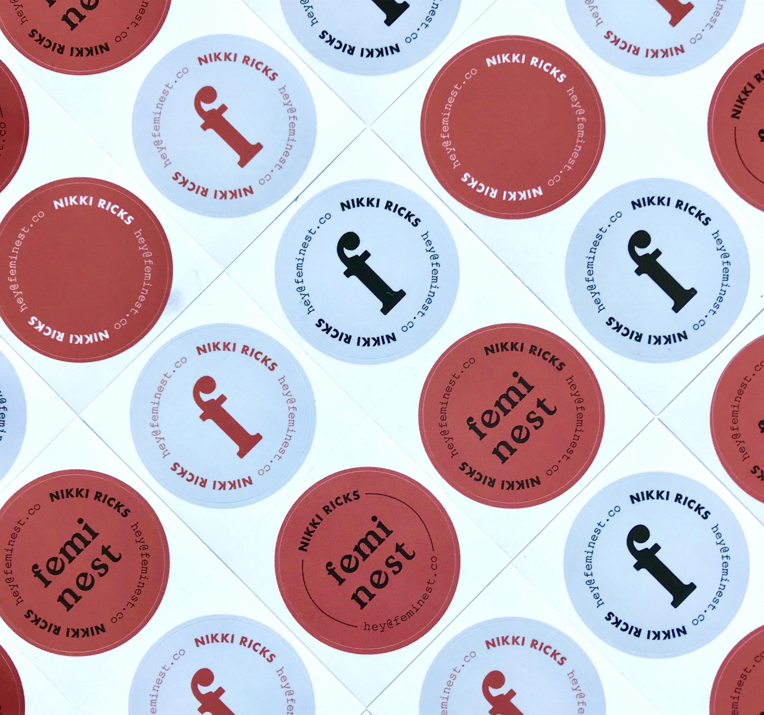 feminest business cards-stickers.JPG