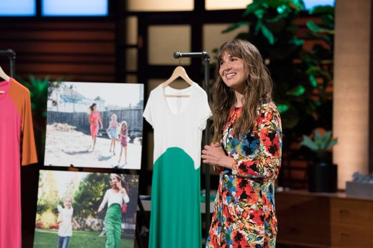 Whitney Lundeen of Sonnet James on Shark Tank! Photo: Mitch Haaseth, ABC