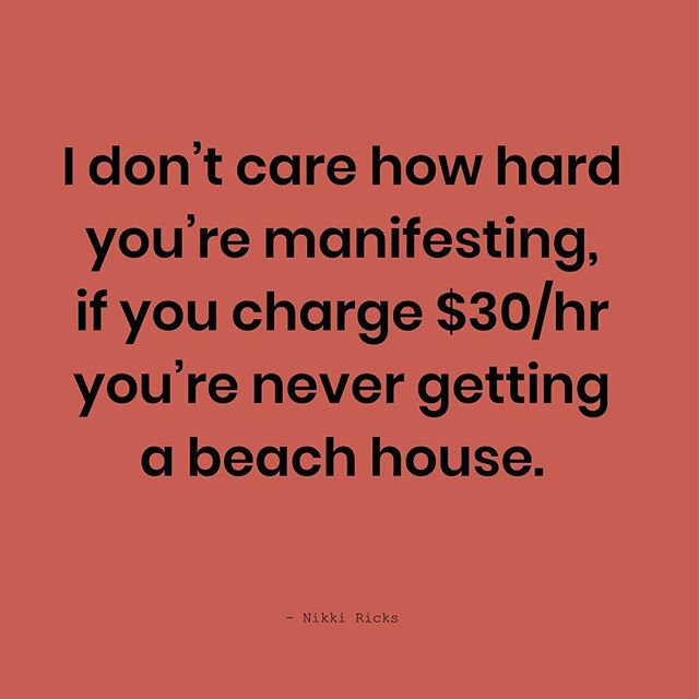 It's just simple math. Keep manifesting my friend, but also raise your rates, because that's real magic. #manifest #moneymoneymoney #getpaid