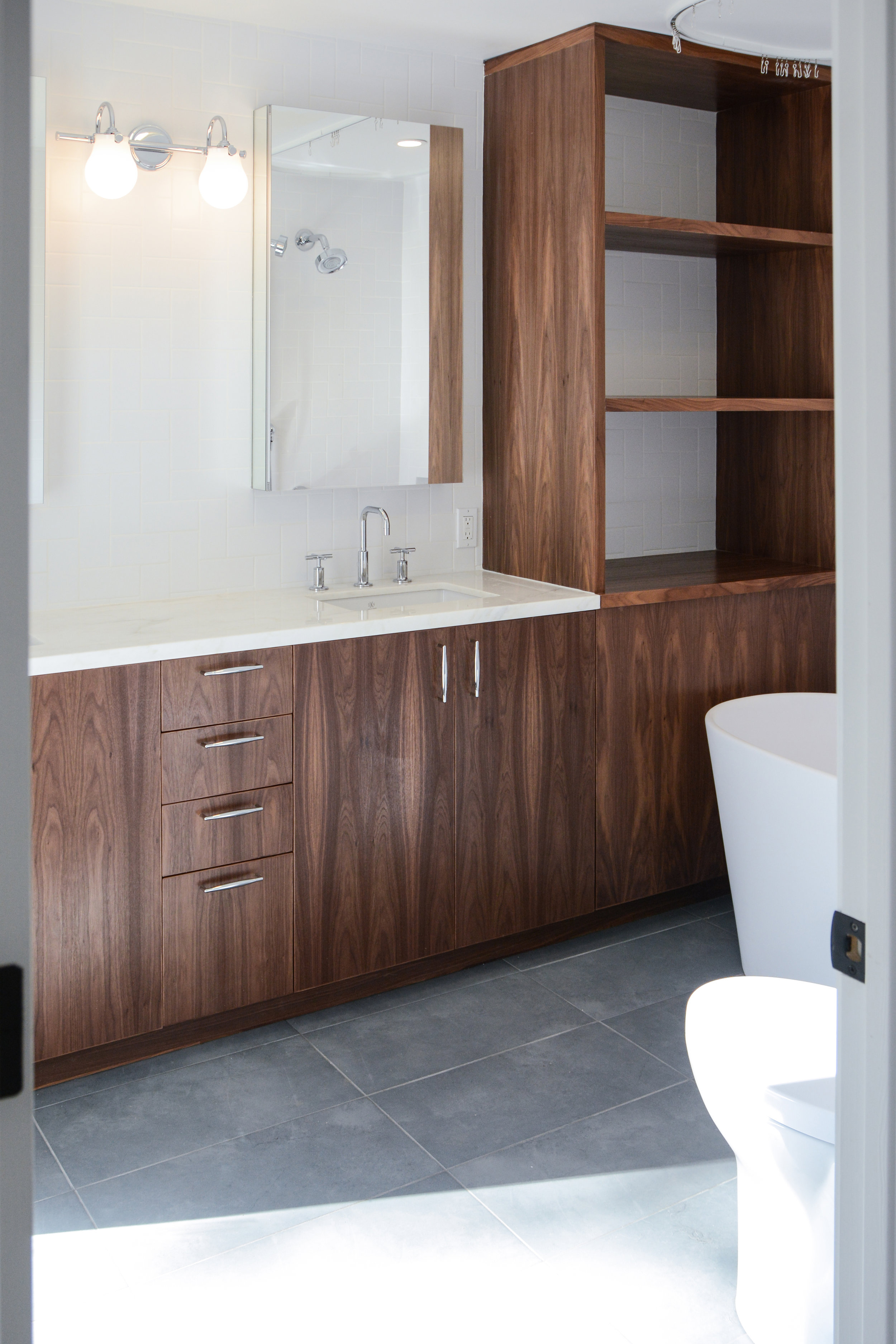 Custom Walnut Bathroom Vanity
