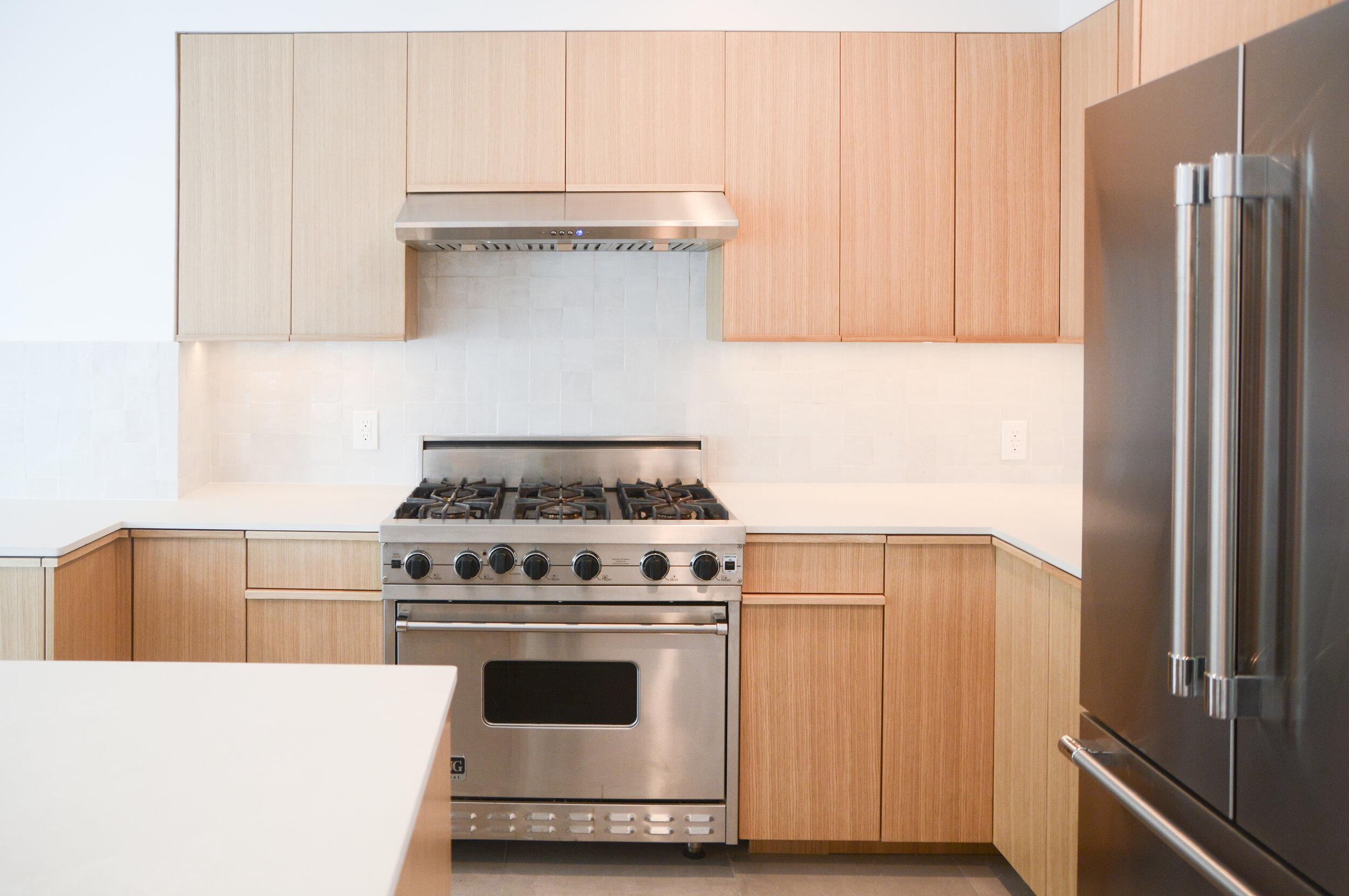 Minimal White Oak Kitchen Cabinets Los Feliz Project