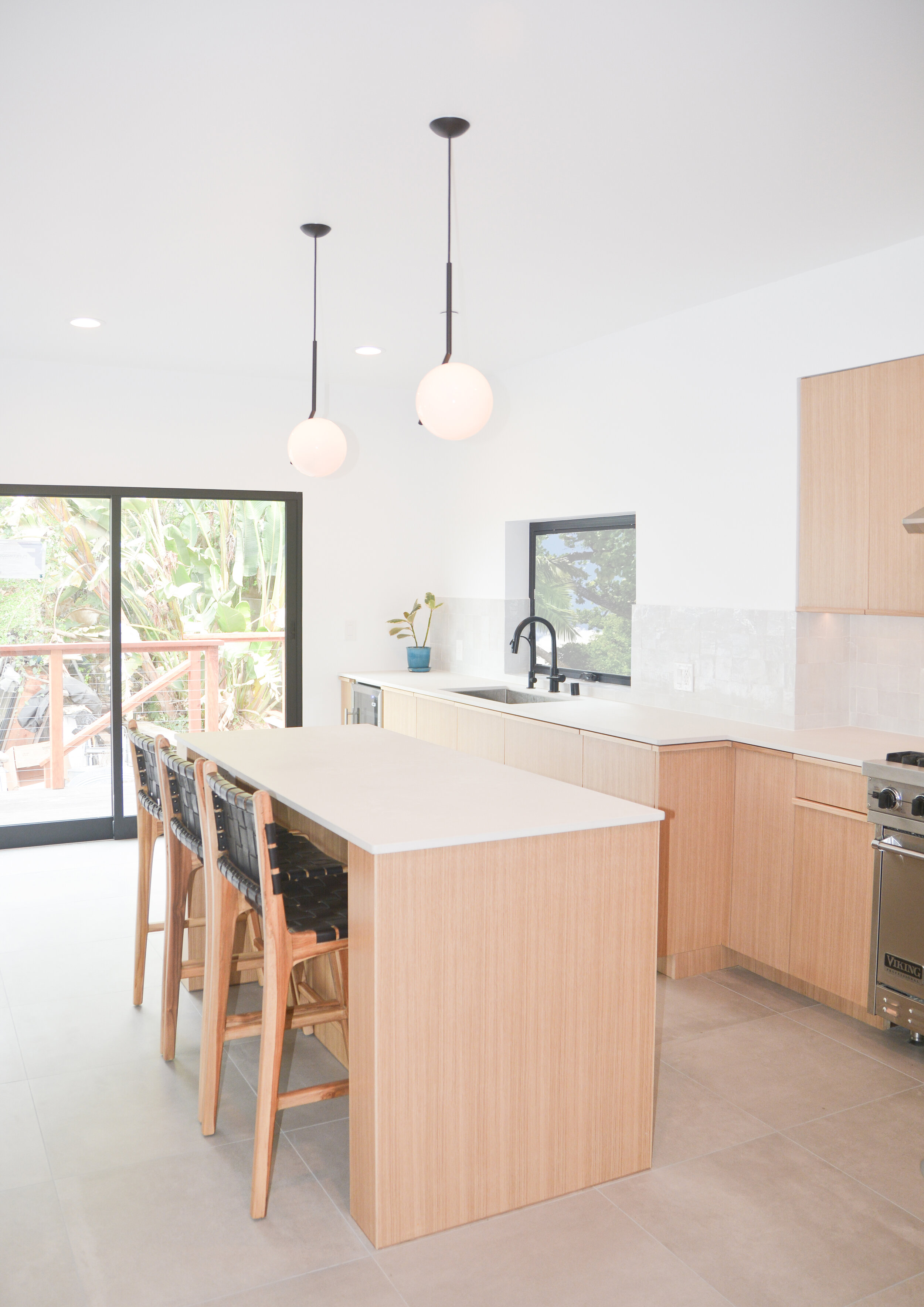 Minimal White Oak Kitchen Cabinets Los Feliz Project
