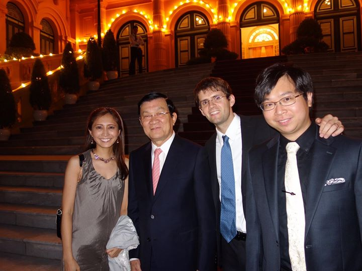 AANMI team meets the President of the Socialist Republic of Vietnam, Mr. Truong Tan Sang. (Photo by Sarah Ngo)