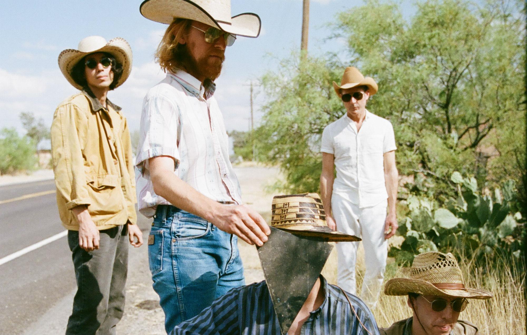 Band members Moses Archuleta, Javier Morales, Bradford Cox, Josh McKay, and Lockett Pundt.