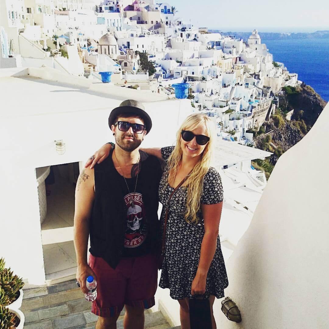 Exploring Santorini - our fave place