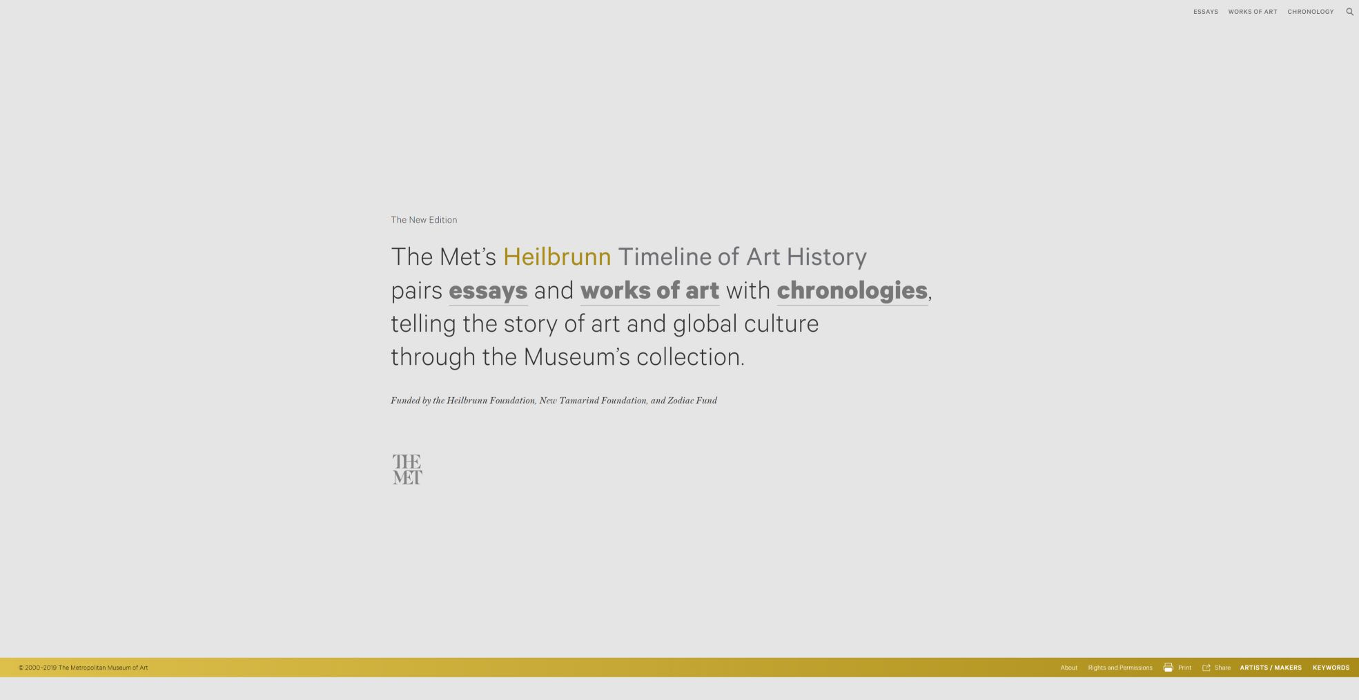 THE MET - Heilbrunn Timeline of Art History Usability Testing - Understand how international researchers interact with the MET Timeline website