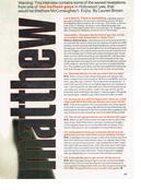 Matthew McConaughey Interview