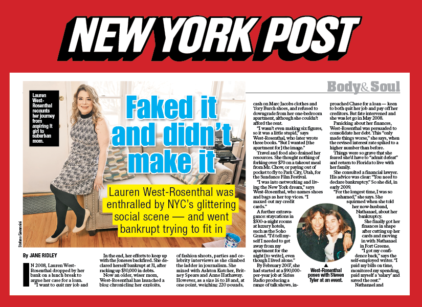 Profiled in the  New York Post  •  Download PDF