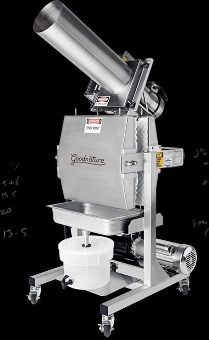 The Goodnature X-1 hydraulic cold-press juicer.