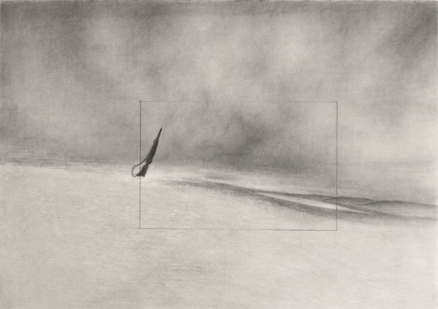When an Image Forgets , 2016.  Graphite on paper, 10 7/8 x 15 3/8 inches.    Image courtesy of the artist.