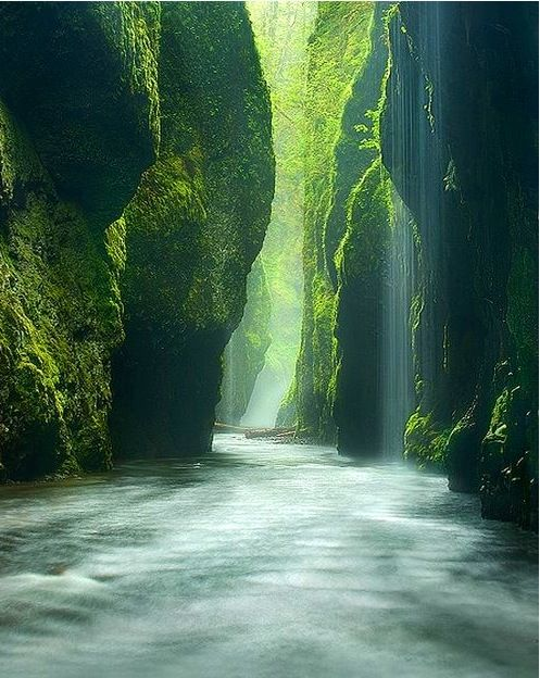 Oneonta Gorge, Oregon (source unknown)