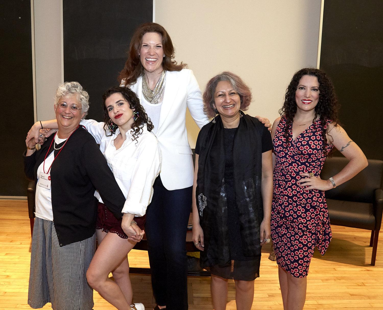 Photo Credit:Hank Randall, Brown University; L to R: Me, Sadie Kurzban, Morra Aarons-Mele, Vibha Pinglé, Sarah Carson