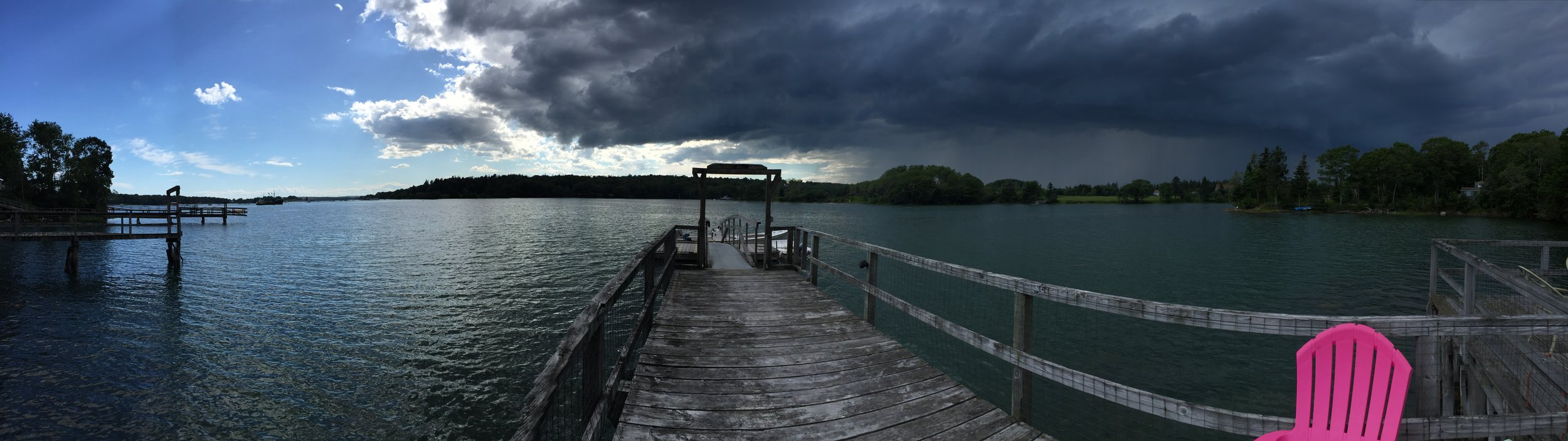 Storm-Sun on the Dock.JPG