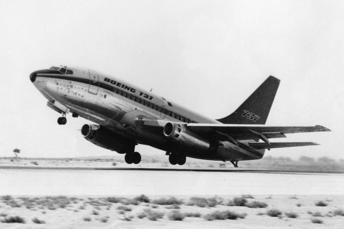 Boeing 737, Edwards Air Force Base, Sept. 1967