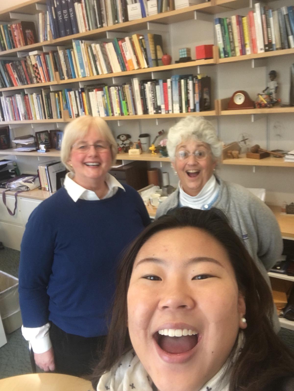 Kathy Spoehr, me, Yuna