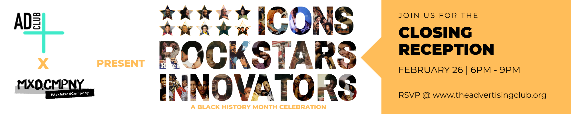BLACK HISTORY MONTH 2019- ICONS, ROCKSTARS & INNOVATORS — Mixed