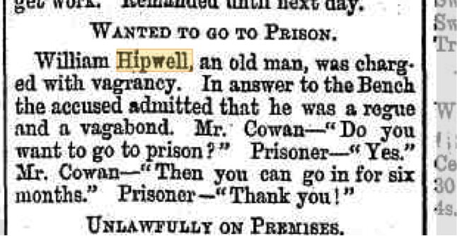 The Daily News, Police Reports, 25 August 1893