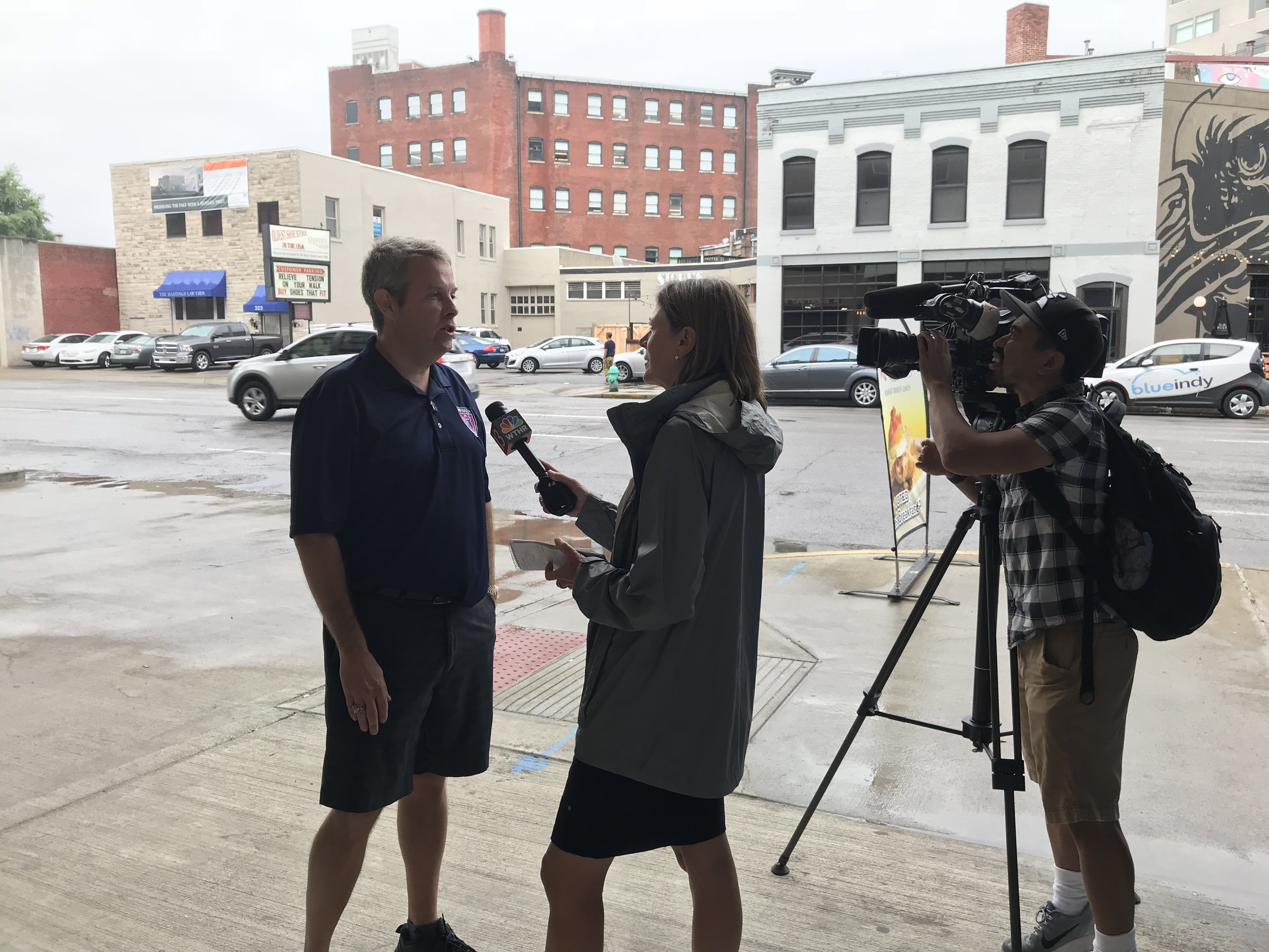 Interview with Channel 13 about Councillor Miller resigning
