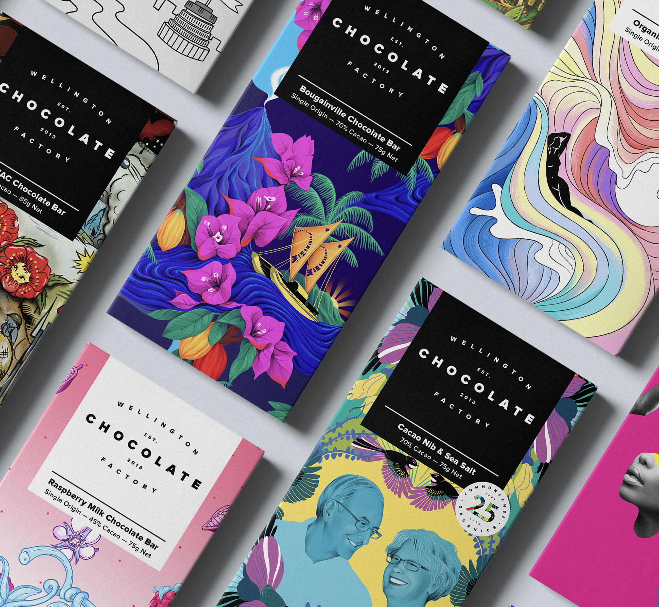 The art of a better tasting world. - Each of our lovingly crafted bars is hand wrapped in custom artwork by talented local artists.