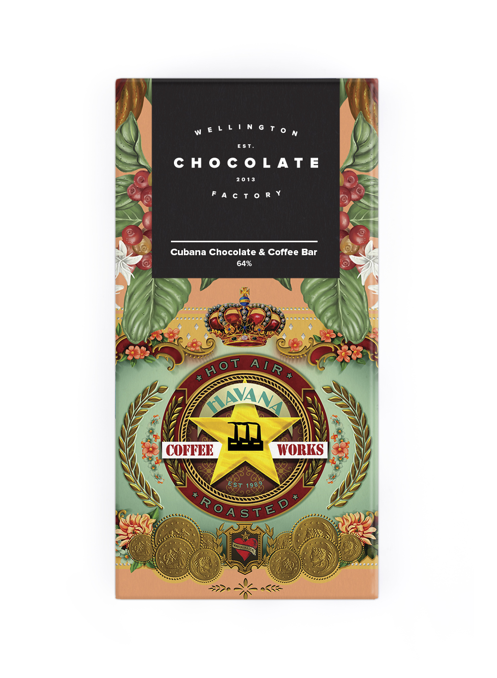 Cubana Chocolate & Coffee Bar - Cuban coffee beans from Havana Coffee Works mixed with Cuban cacao.