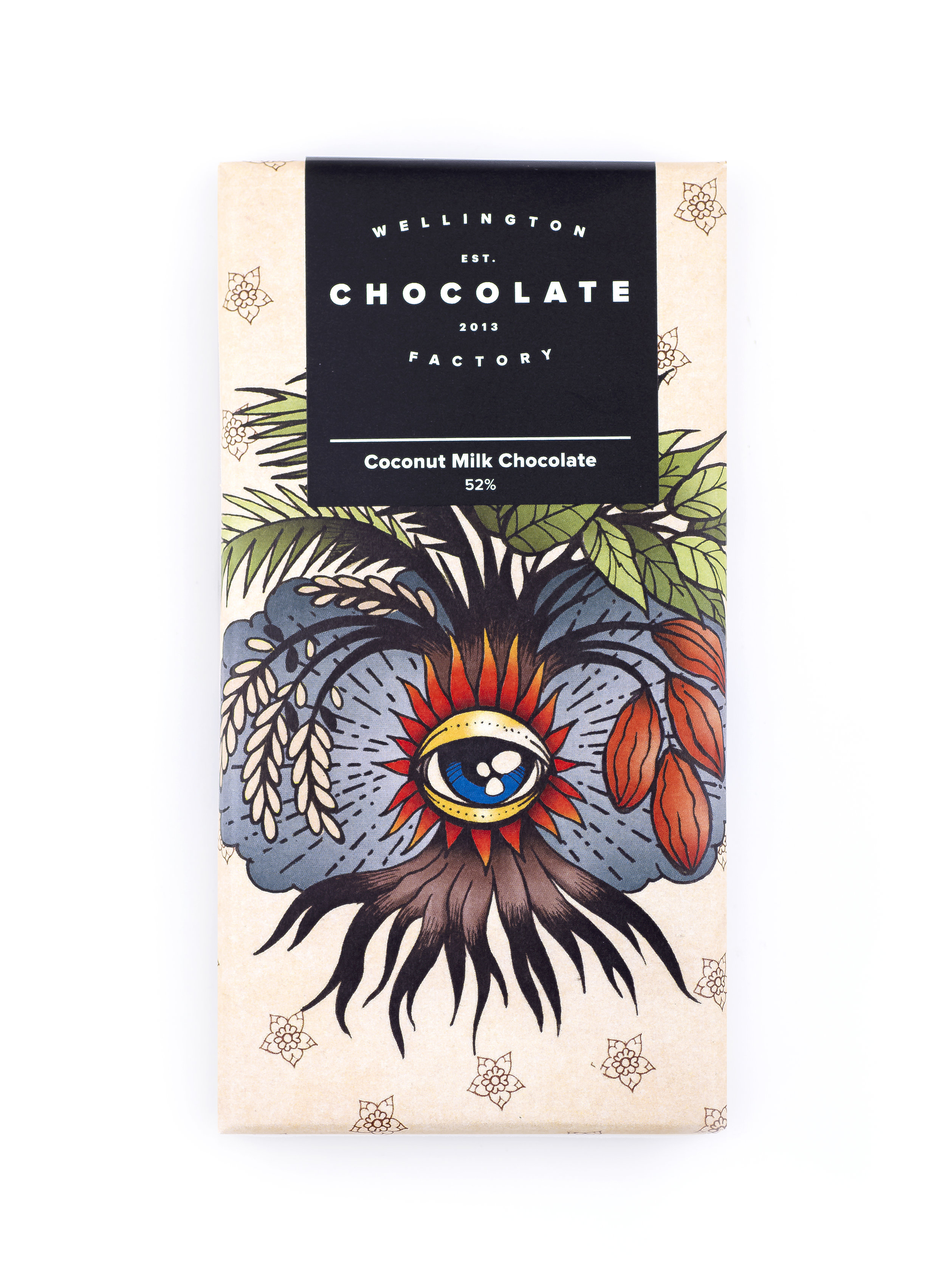 Coconut Milk Chocolate Bar - Originally called the Two Tree bar with the ingredients stemming from only two trees. We thought we should change the name to be a little more self-explanatory, so here it is.