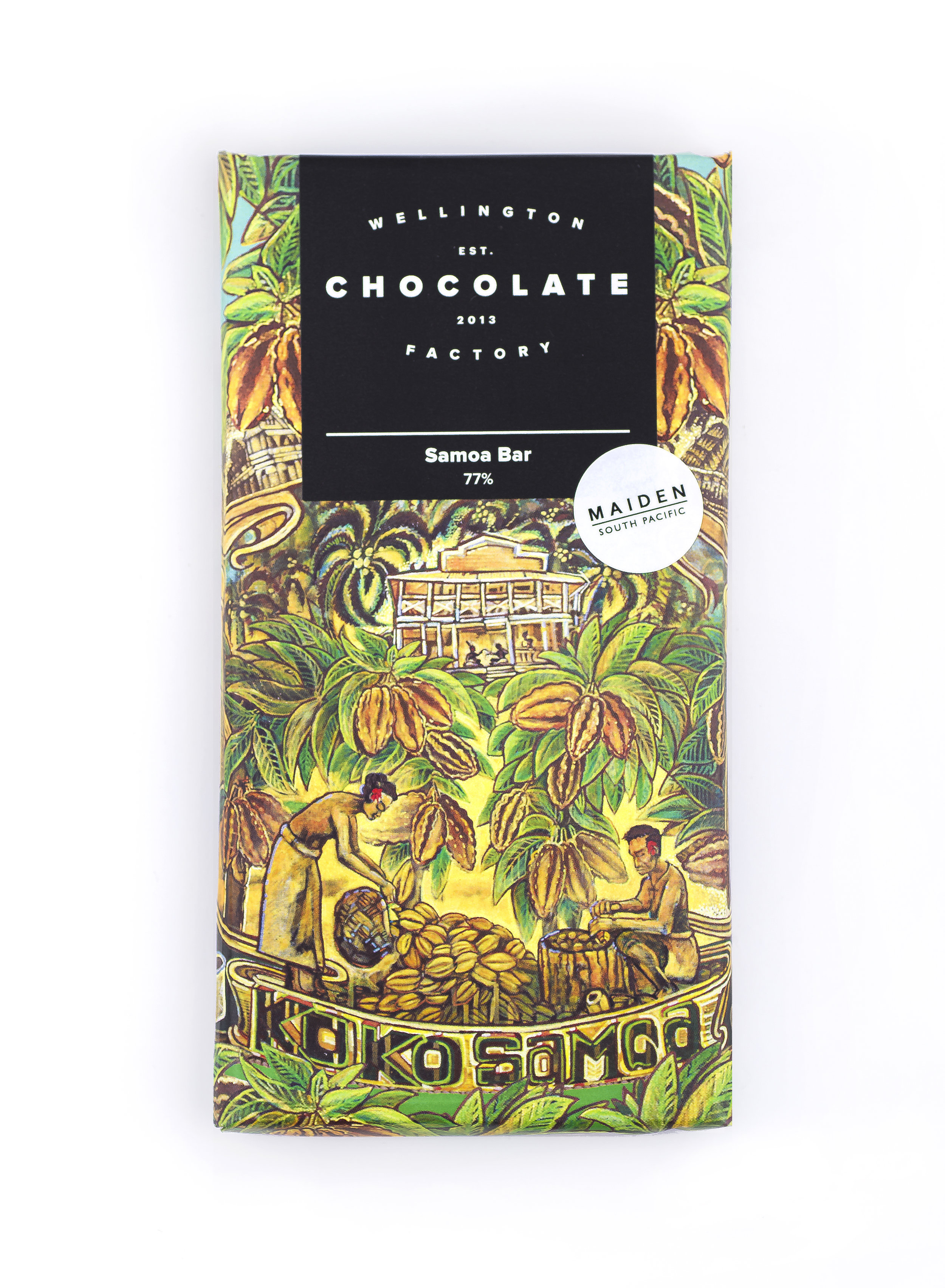 Samoa Chocolate Bar - Single origin chocolate from Samoan cacao beans. Smooth, fruity, banana & spice.