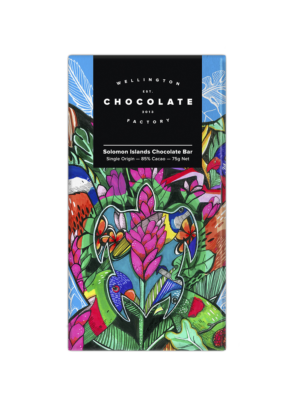 Solomon Islands Chocolate Bar - Our highest percentage cacao bar to date! Super creamy, rich and powerful. Notes of walnut, rye whiskey, and malt.