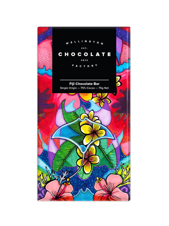Fiji Chocolate Bar - Our newest Pacific origin. Super creamy, perfect for dessert. Notes of chocolate brownie, toasted almonds, and raspberry.