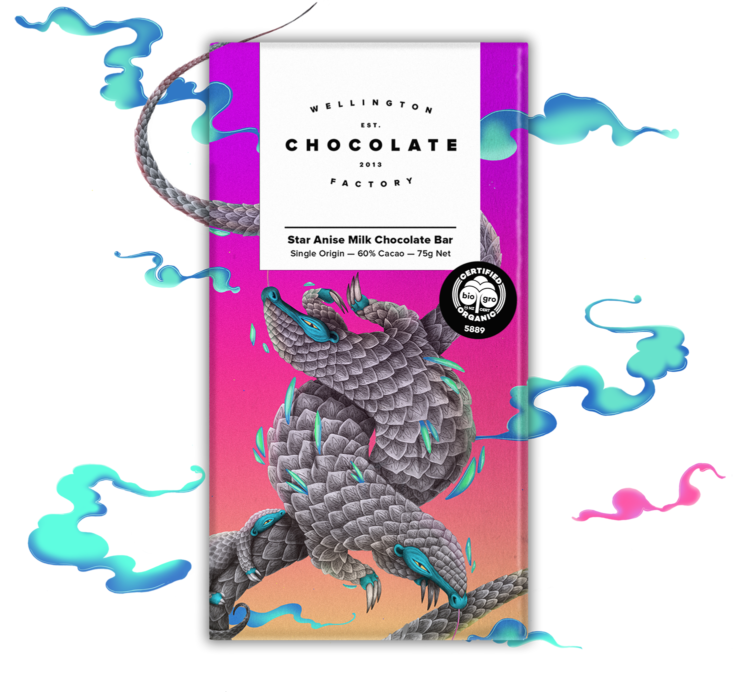 Star Anise Milk Chocolate Bar - Infusing a dark milk chocolate with wonderful Chinese star anise makes for a delicious bar that tastes half like licorice and half like Christmas biscuits.