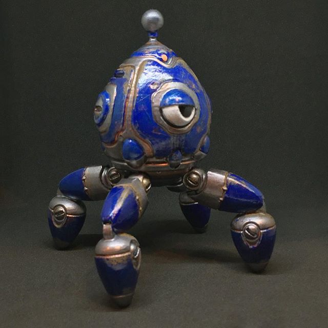 7/7 the last custom mubba figure for the @robot_envy zenith kickstarter!  #reward #3dprinting #3dprint #toys #robot #mecha #wargaming #3dmodel #handpainted #mubba #conceptart #zbrush #maker #wargaming