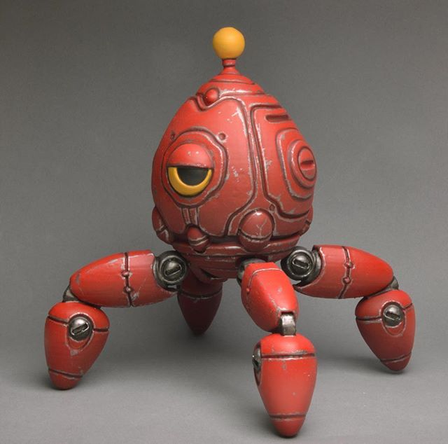 5/7 custom mubba figure for the @robot_envy zenith kickstarter!  #reward #3dprinting #3dprint #toys #robot #mecha #wargaming #3dmodel #handpainted #mubba #conceptart #zbrush