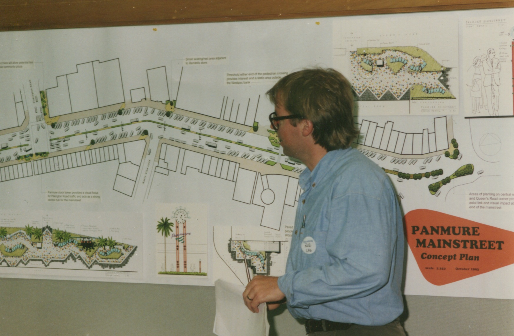 Panmure Mainstreet initial planning. Date unknown. Image courtesy of Panmure Historical Society.