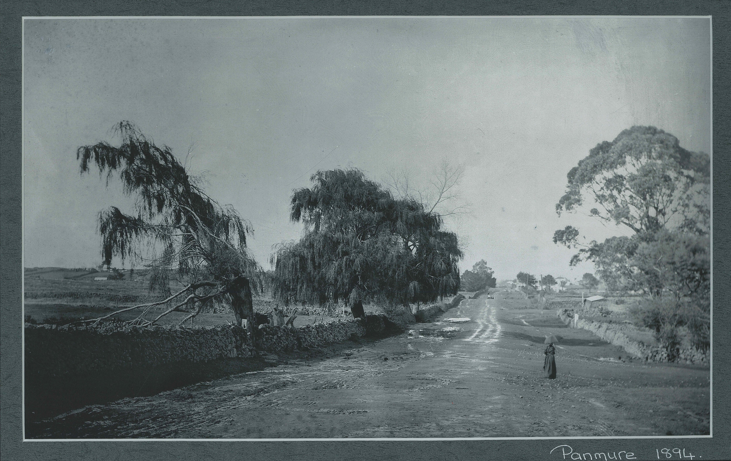 Ellerslie/Panmure Highway, facing eastwards towards the township. Image credit: Sir George Grey Special Collections. 1894.