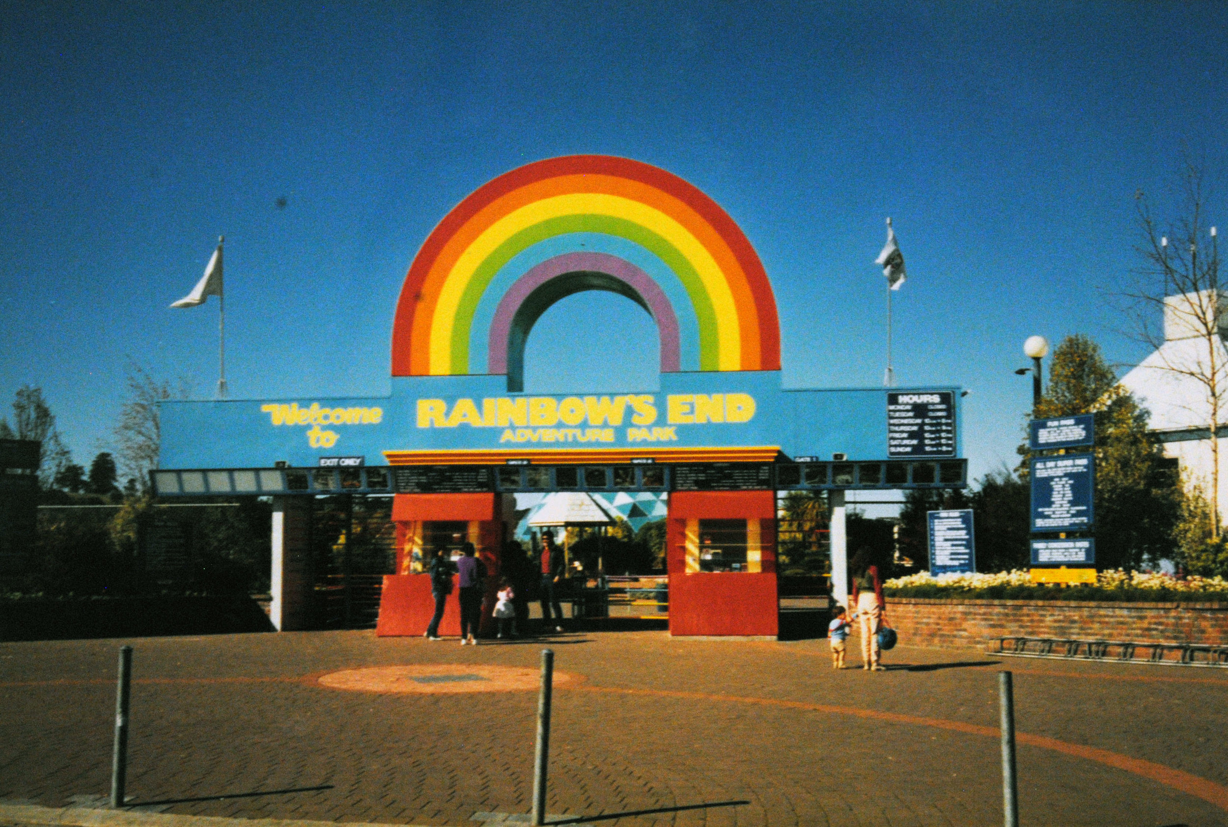 The original Rainbowsend sign. Image credit: Rainbowsend. Date unknown.