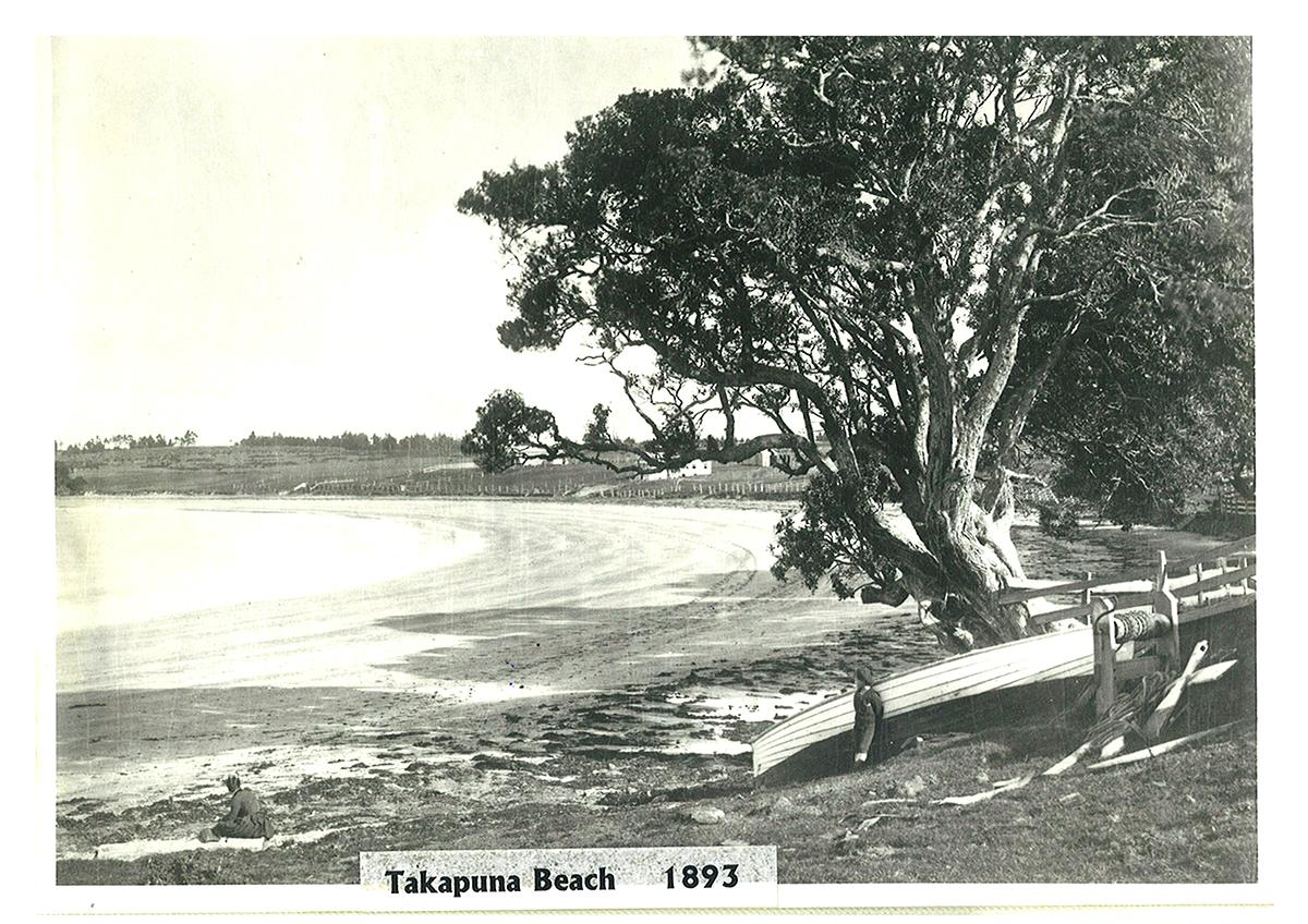 Takapuna Beach 1893. Image credit: Colleen Pugh, The Lakehouse Takapuna.