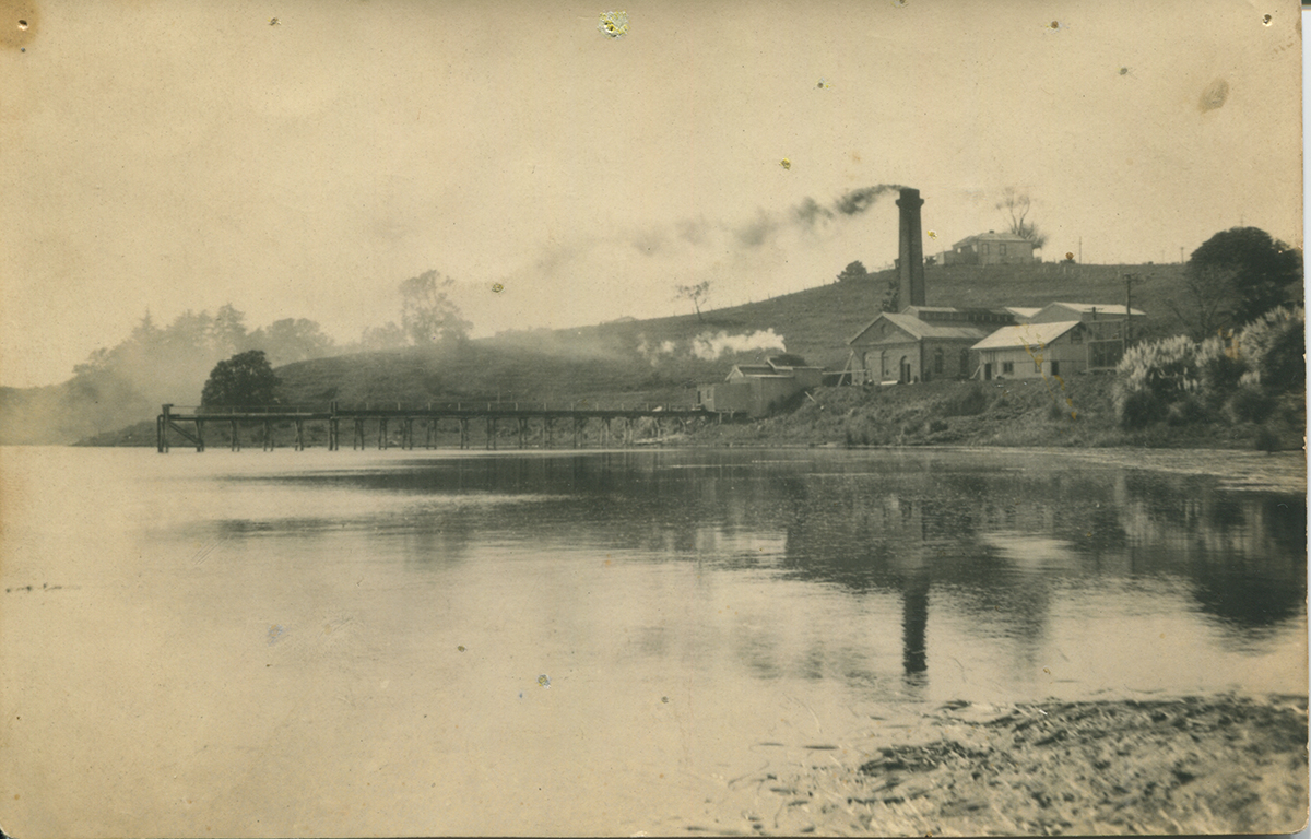 Takapuna Pumphouse, early 20th century. Image credit: Mags Delaney from the Takapuna Pumphouse.