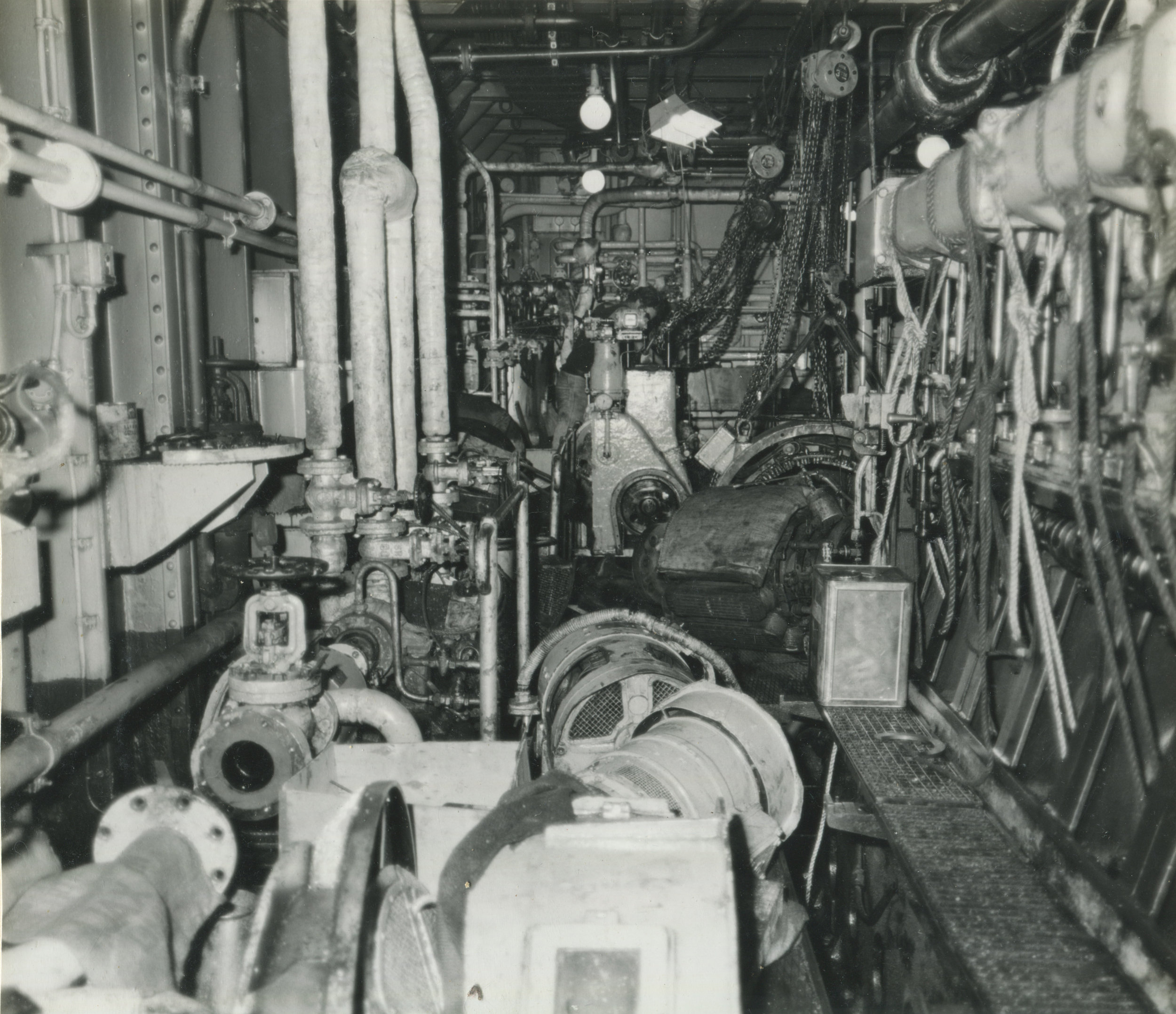 The inner workings of Ship M.V. Taulota in 1973. Courtesy of Titan Engineering.