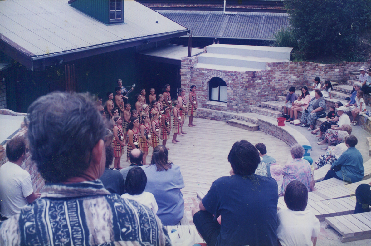 First show at newly built amphitheatre at the Lake Pumphouse Theatre. Image credit: Mags Delaney. Circa 1915.