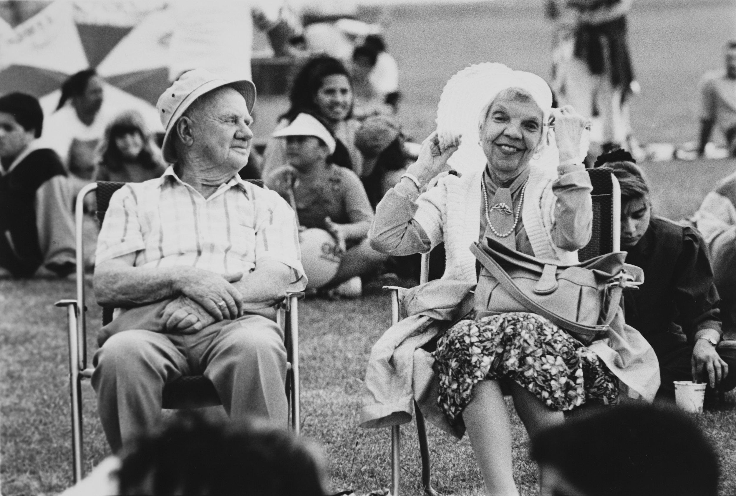 Festival comforts', Manukau City Centre, 1994. Creator: Unknown. Date: 3 December 1994. Footprints 03631