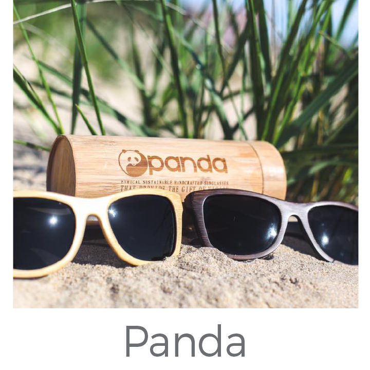 Panda eco friendly bamboo sunglasses
