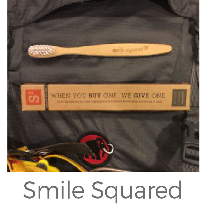 Smile Squared made from eco friendly bamboo