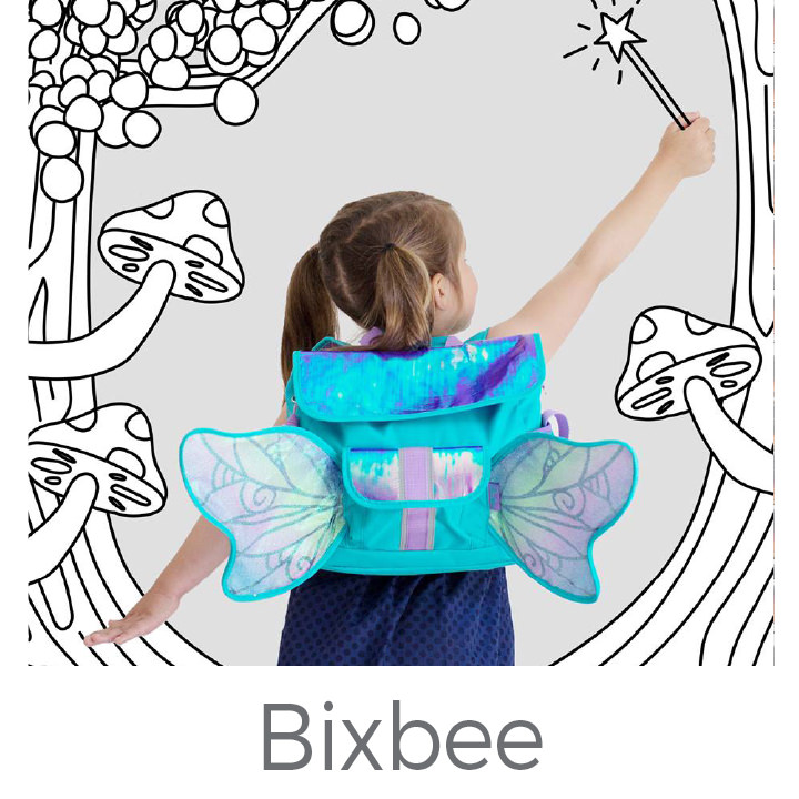 Bixbee kids backpacks and lunch boxes
