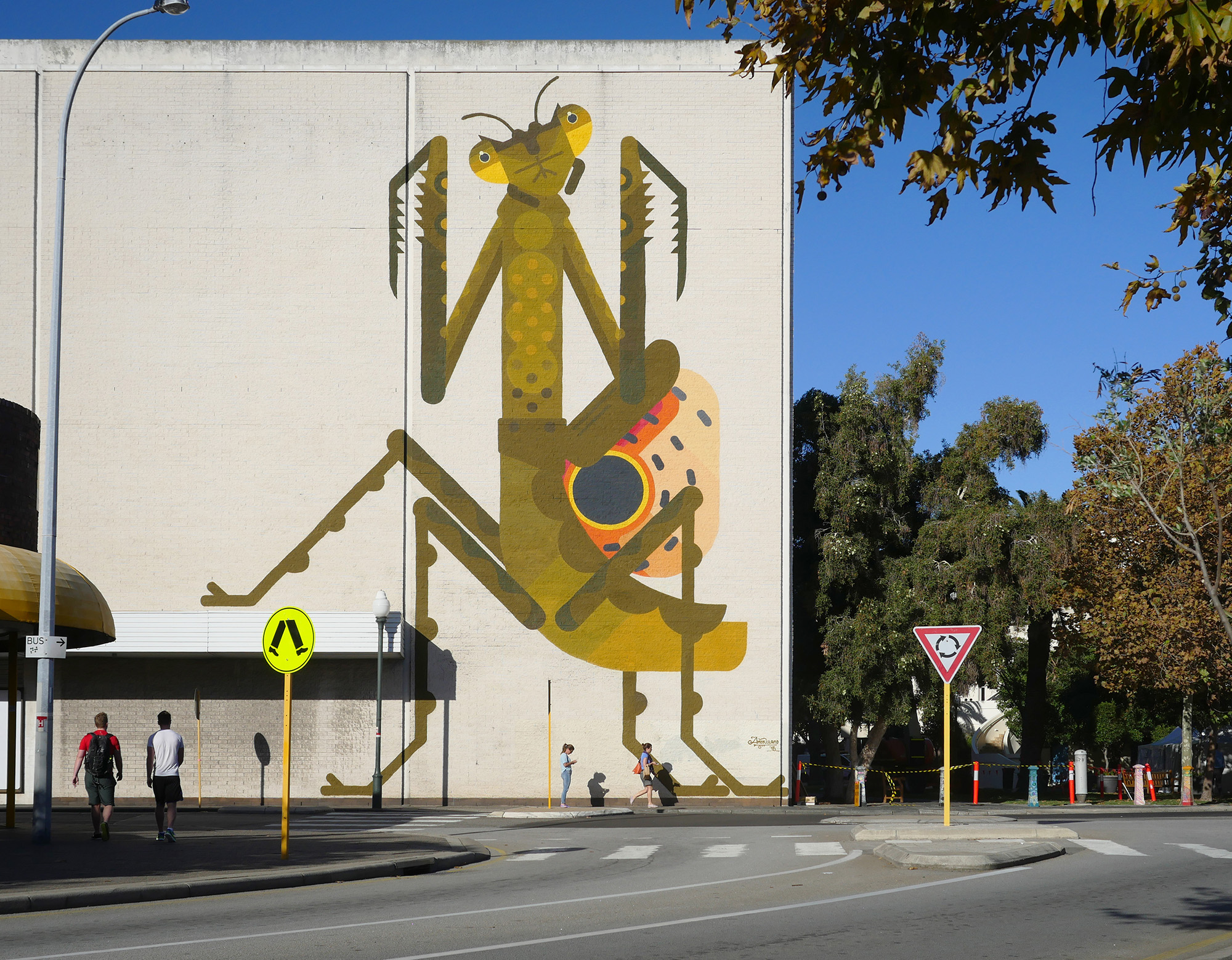 Fremantle, WA Australia 2015. 'Praying Mantis' for PUBLIC Festival