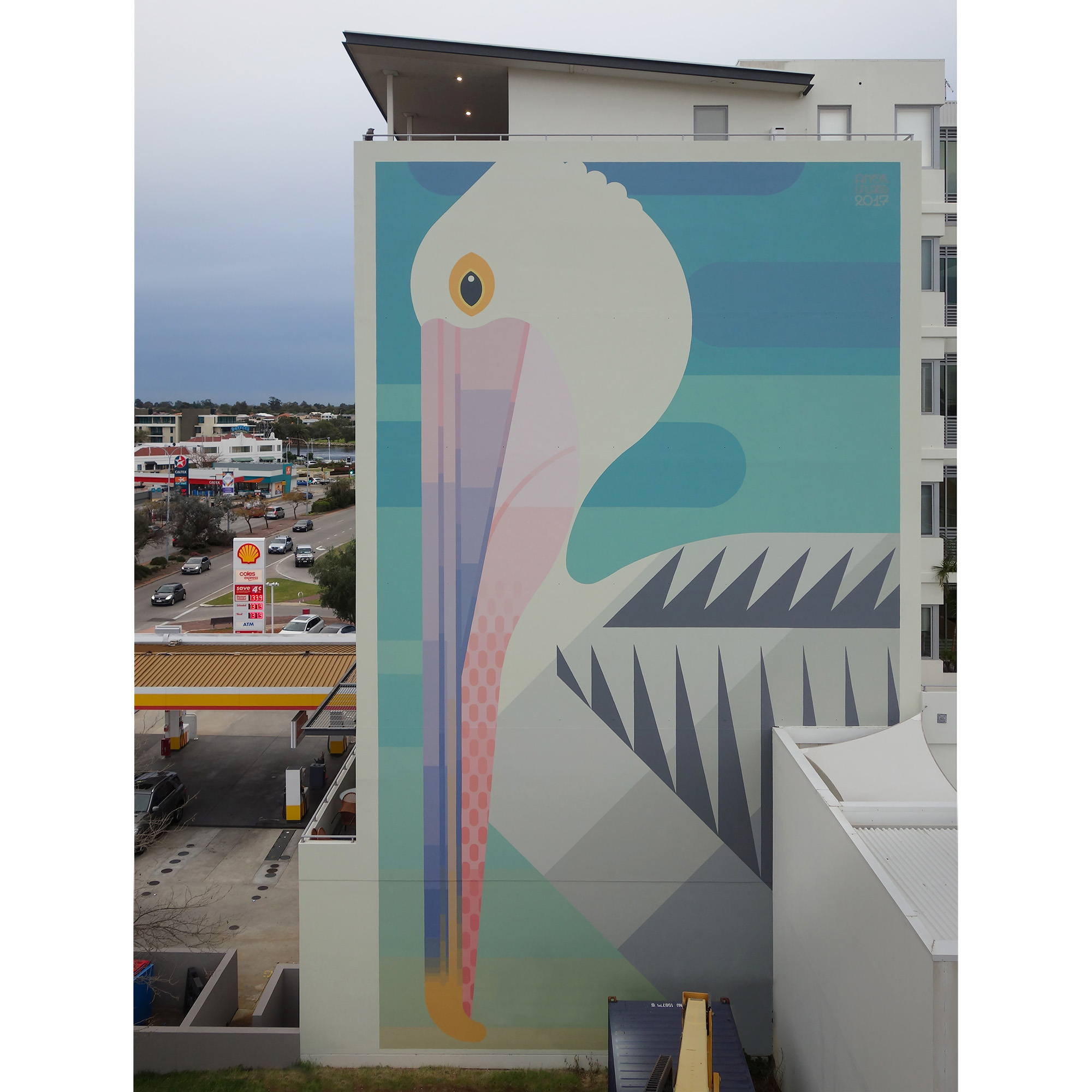 Perth, WA Australia 2017. 'Australian Pelican' commissioned by City of Melville