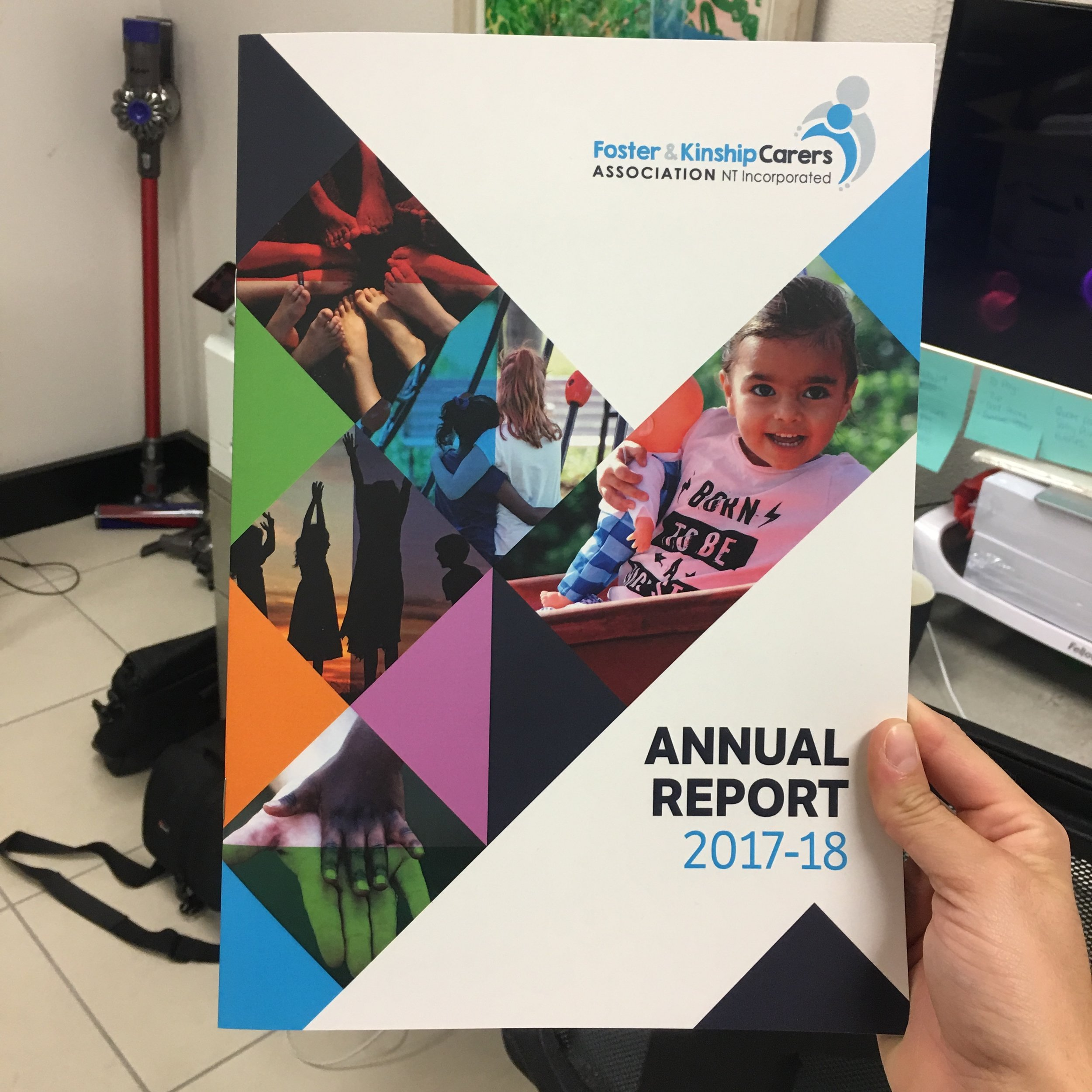 Annual Report design and print  Foster and kinship carers